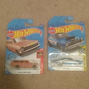 hot wheels 64 Chevy Nova wagon 68 Dodge dart
